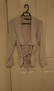 Cream waterfall jacket