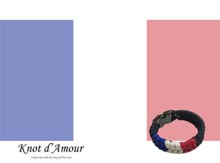 WC 2018 Edition - France) Paracord Bracelet by Knot d'Amour