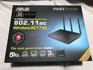 ASUS Wifi Router RT-AC66U [Same as New]