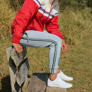 RESTOCKED: Stripes Gray Track Pants