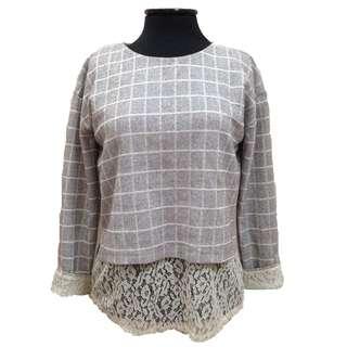 New:Gray pullover