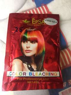 Epsa salon expert hair color bleach in wine red