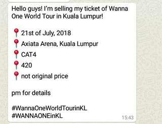 [Helping friend] WTS WANNAONE'S Ticket.