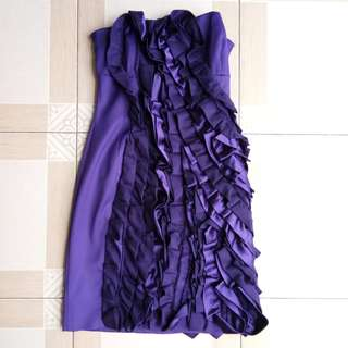 Dress pesta ungu