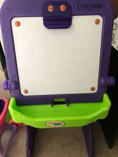 Crayola white board with magnetic alphabets