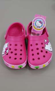 Hello Kitty Clogs with flashing lights