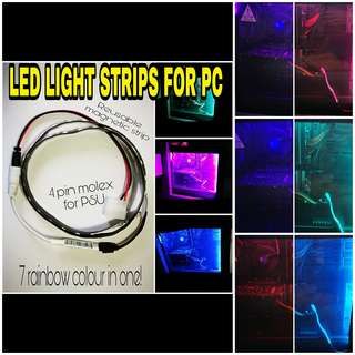 LED light strips for pc comes with magnetic strips (re-usable)