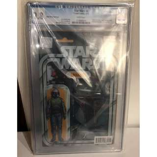 CGC 9.8 Star Wars #4 Boba Fett Action Figure Variant by John Tyler Christopher