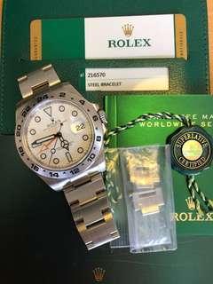 Rolex-216570-大白橙-水貨-2016年錶-原廠有5年保養!冇盒!所有嘢齊!