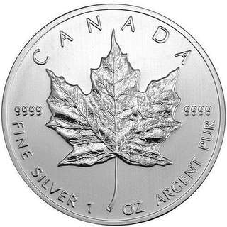 Genuine Royal Canadian Mint .9999 pure silver maple 🍁 coin
