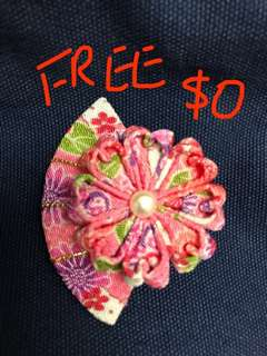 Free Gift!!! 免費送贈!!! 頭飾!🌸🌸🌸 Hand made Japanese hair accessory! 凡購買我任何一個項目,即免費送你這份禮物!🎁 Buy any one of my items, Free Gift to you!🎁