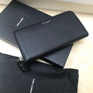 YSL Long Wallet in Black (Original price $5250!!)