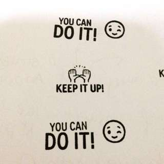 You can do it Emoji Teacher Chops/ Stamp