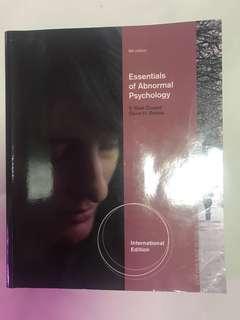 Abnormal Psychology Essentials