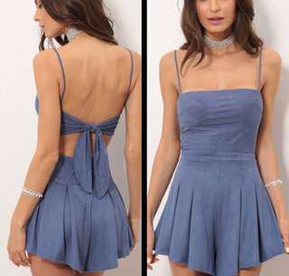 🚚 LucyInTheSky Suede Playsuit