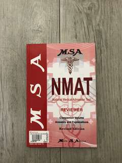 MSA NMAT REVIEWER (Companion Volume Answers and Explanations)