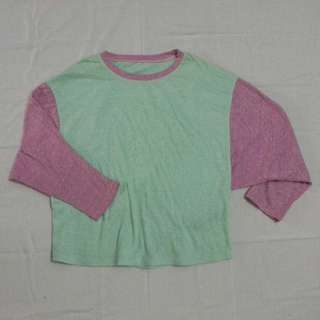 Sweater crop warna pastel