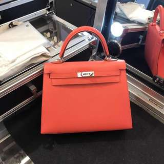 Hermes kelly 25 epsom A stamp rough vif