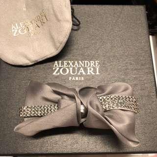 Alexandre zouari satin with crystal hair clip