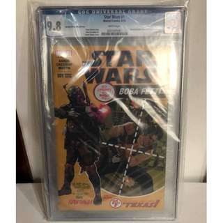 CGC 9.8 Star Wars #1 Amazing Spider-man 129 Homage Boba Fett Variant By John Cassaday
