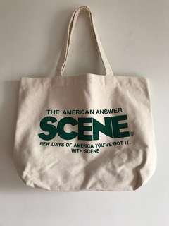 Ice Fire Scene Tote Bag