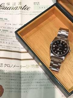 Rolex-14270-A頭-日本出世紙-盒!不議價!