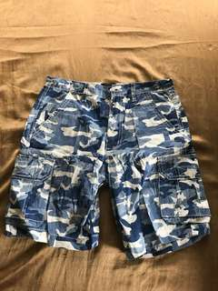 SPIN Blue Camouflage shorts