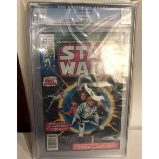 "CGC 9.6 1977 Star Wars #1 Star Wars A New Hope Movie Adaptation ""White Pages"""
