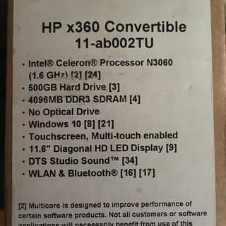 HP x360 - 11-ab002tu