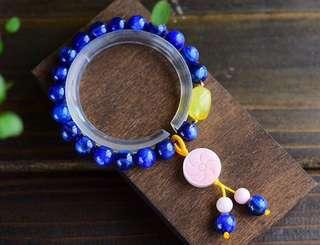 💎 手工製作🔨天然藍晶蜜蠟手鏈