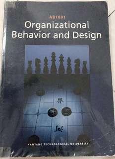 AB1601 Organizational Behavior and Design NTU NBS