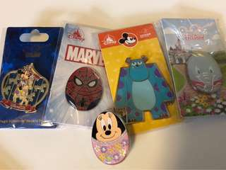 Disney pin trading 花蛋襟章交換 毛毛 蜘蛛俠 米妮襟章