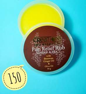 Pain relief rub by Spa Creations