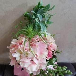 仿真花婚禮花藝伴娘手捧花小花束椅背花裝飾wedding bouquets