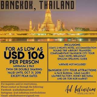 Bangkok Package (3 days and 2 nights)