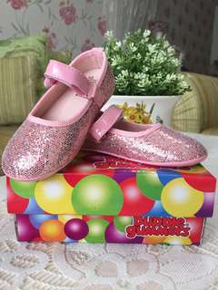Pink Glitter Ballerina Shoes