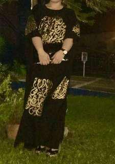 Repriced Caftan (black dress with gold details)