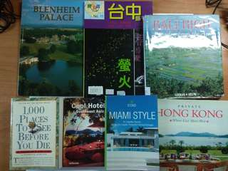 A Lot of Books for Holidays & Home Deco Lovers, total 7 pcs