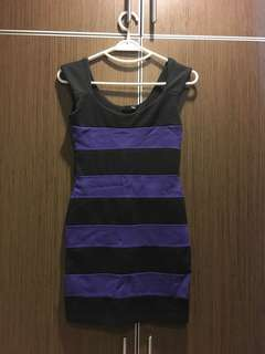 H&M stripe bodycon dress
