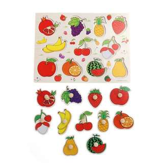 Wooden peg puzzles (fruits & vegetables)-130pesos each board