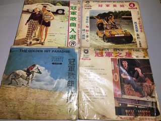 冠軍系列早期黑膠唱片 早期黑膠唱片 造型背景 裝置藝術 黑膠唱片