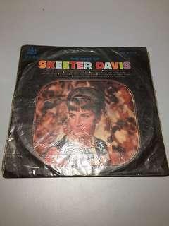 THE BEST OF SKEETER DAVIS LP黑膠唱片  史基達黛維絲專集黑膠唱片早期黑膠唱片 造型背景 裝置藝術 黑膠唱片