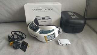 FPV drone Goggle Fatshark Dominator HD3 with module and antennas (no battery)