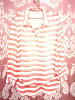 Red stripes long sleeve