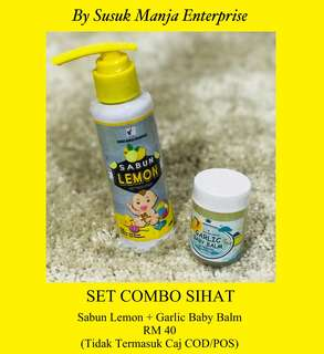 Set Combo Garlic Baby Balm & Sabun Lemon