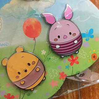 HKDL 迪士尼徽章 Disney Pin Ufufy Pooh and piglet