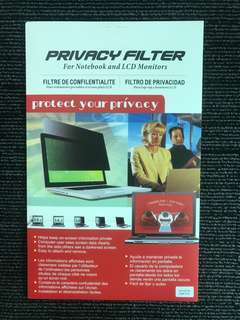 "14"" Privacy Filter for Laptop / Notebook / Computer / LCD Monitor"