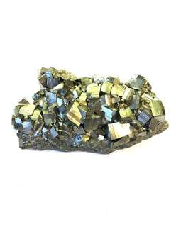 Golden pyrite cluster