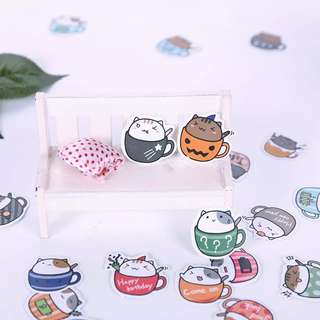🚚 [In stock] 20 Pcs Kitty in a cup Stickers pack