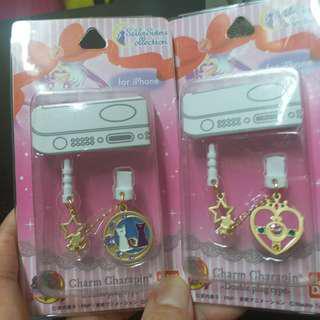 Sailor Moon double plug type 美少女戰士20週年i phone 防塵吊飾(每盒$100)